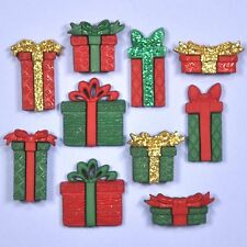 DRESS IT UP Embellishments Boxes & Bows 2484 - Buttons - Xmas - Christmas