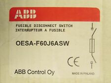 ABB Fusible Disconnect Switch 60 AMP 3 Pole OESA F60J6ASW