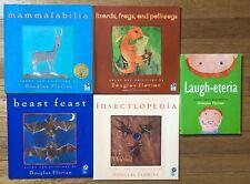 Lot 5 DOUGLAS FLORIAN Poetry Picture Books Mammalabilia Polliwogs Beast Feast