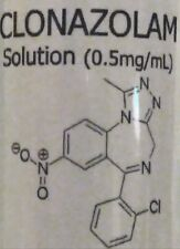 Research Chemical: Clonazolam 30ml Bottle (0.5mg/ml)