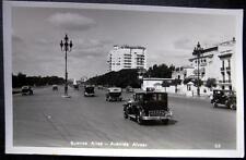ARGENTINA~1930's BUENOS AIRES ~AVENIDA ALVEAR ~Old Cars ~ DOWNTOWN  ~ RPPC