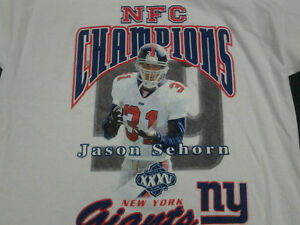 2000 NEW YORK GIANTS SUPER BOWL XXXV CHAMPIONS T SHIRT GET TWO FOR PRICE OF ONE!