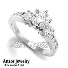 14K Solid White Gold Style #R1538 1.38 Cwt Celebration Diamond Engagement Ring