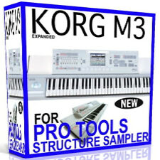 KORG M3 For PRO TOOLS STRUCTURE le Full Sampler Presets Sounds 11 DVD'S 38 GB