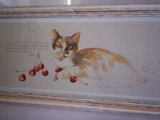 chats roux dessin tableau Colette décoration cadre neuf