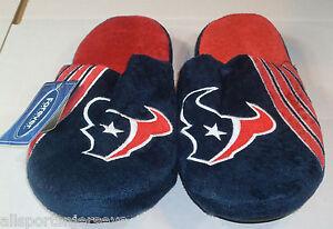 NFL Houston Texans Stripe Logo Slide Slippers Size Men Extra Large by FOCO