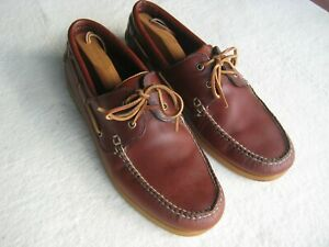 Brooks Brothers 346 Men Boat Shoes Deck Russet Brown Leather Size 13M VGC
