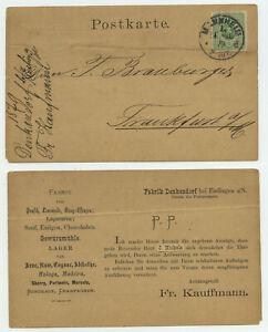 79609 - Mi.Nr. 31 - Postkarte - Mannheim 14.10.1879 nach Frankfurt a.M.