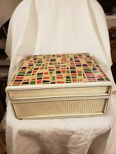 Vintage Silvertone 4 Speed Portable Record Player Needs Repair but Cool Piece!
