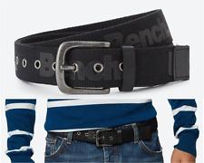 BENCH Webbing Belt Men's Size S/M TRANSFER Black Logo Pin-Buckle Belts BNWT