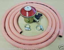 27 mm de gas propano regulador + 2m Manguera + 2 Clips-Patio De Gas / BP Lite