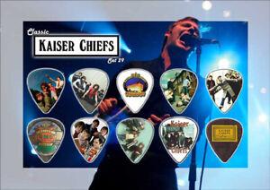 Kaiser Chiefs Guitar Picks On Photographic Background 10 Guitar Picks