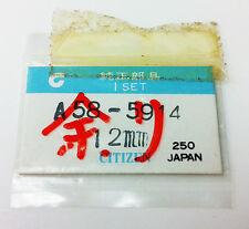CITIZEN A58-5914 GREY  TONE MINUTE HANDS 12MM 2 PCS ORIGINAL  GENUINE NOS