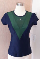 Addidas Stella McCartney Short Sleeve Navy Blue Olive Barricade Athletic Top S