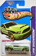 HOT WHEELS 2013 HW SHOWROOM '10 FORD SHELBY GT500 SUPERSNAKE GREEN W+