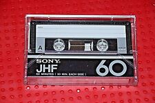 USED TAPES!!     SONY  JHF  60          BLANK CASSETTE TAPE (1) (USED)