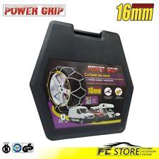 16F225 - Catene Neve Power Grip 16mm Omologate Gruppo 225 pneumatici 215/70r14