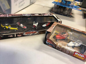 NEW 2001 Hot Wheels Collectibles Vintage Racing Bruce Meyer Gallery 4-Car Set +