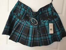 Jane Norman Tartan Mini Skirt - Size 14