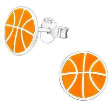 Basketball Hypoallergenic 925 Sterling Silver Stud Earrings For Kids/Girls