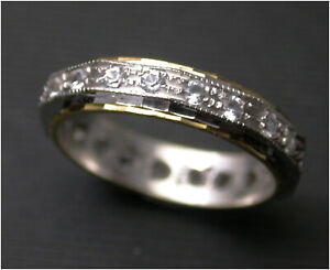 Diamond Eternity Ring Full size L 1/2  18ct Gold Birmingham HM c1975 Vintage