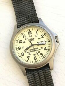 Gents VX33-X068 Lorus By Seiko Lumibrite Military Watch