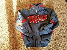 Minnesota Twins Jacket Majestic Boys S MLB Baseball Navy Blue and Red Youth
