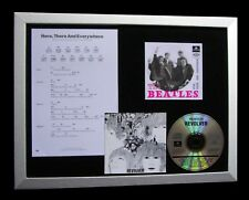 BEATLES Here There Everywhere QUALITY MUSIC CD FRAMED DISPLAY+FAST GLOBAL SHIP