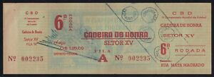 Uruguay - Brazil 1950 FIFA World Cup Final Match Soccer Football Ticket Rodada 6