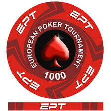 Fichas Cerámica ept European Póker Tour Valor 1000 - Fijacion Ajuste Borde