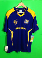 Sri Lanka Mens Sport Cricket Team World Cup Shirt NWT Size XL Blue Yellow