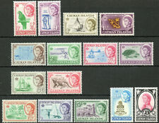 Cayman Islands 1962 QEII set of mint stamps value to £1  Lightly Hinged