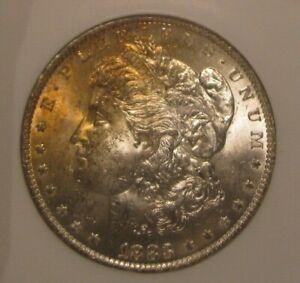 1883 O Morgan silver dollar - NGC MS 62 Binion Collection, Toning Obverse 3963-3