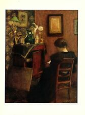 """1973 Vintage MATISSE """"WOMAN READING LA LISEUSE"""" COLOR Print offset Lithograph"""