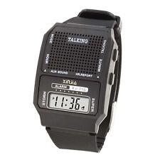 20x English Language Female Voice Speaking Talking LCD Sports Watch Wristwatches