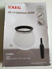 3 Original GR 19 FILTER for AEG-Electrolux Junior, Liliput