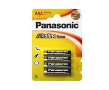 4 x Panasonic alkaline AAA batteries R03 MN2400. Best Before 2027. Free UK p&p