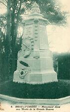 Carte BRIIS SOUS FORGES Monument élevé aux Morts de la Grande Guerre