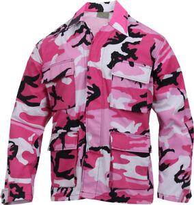 Rothco Military BDU Shirt Tactical Uniform Army Coat Camouflage Fatigue Jacket