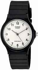 Casio Mens MQ24/7B Quartz Watch with White Dial Analogue Display and Black Resin