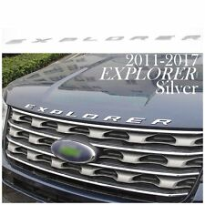 US! Silver Graphite Hood Emblem Letters For 2011-2017 Ford Explorer Sport Decals