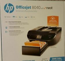 NEW  HP Officejet 8040 Wireless e-All-in-One Printer, Copy Fax Print Scan w/ NEA