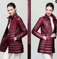 Women's super light 90% white duck Down coat jacket Ultra-light  slender Uniqlo