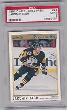 1991 1992 O-Pee-Chee Premier #24 Jaromir Jagr Penguins Hockey Card PSA 9 MINT