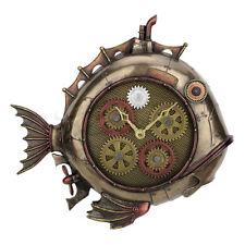 """Steampunk 12.85"""" Timepiece Bronze Deep Sea Dweller Wall Clock"""
