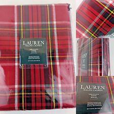 "🎄Polo Ralph Lauren Tablecloth 🎄Gretchen Tartan Red Plaid 🎄Oblong 60 x 104"""