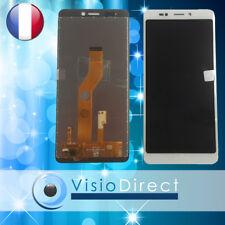 """Ecran complet pour Wiko Jerry 3 5.45"""" blanc vitre tactile + LCD + verre trempé"""