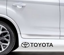 2x Side Skirt Stickers Toyota Logo Premium Qaulity Decals VL105