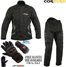 Combinaisons de motocyclette noirs textiles, taille S