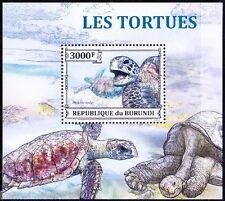 Green sea Turtles, Reptiles, Marine Burundi 2013 MNH Sheet (A11)